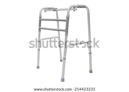 Adjustable folding walker for elderly, disabled isolated