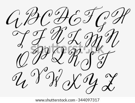 Cursive Alphabet Stock Photos, Images, & Pictures