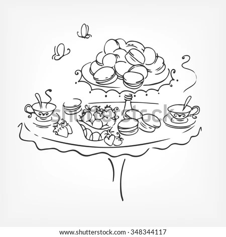 Macaroons Page Coloring Pages