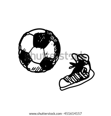 Children Drawing Football Stock Photos, Images, & Pictures