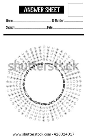 Multiple Choice Test Stock Vectors & Vector Clip Art