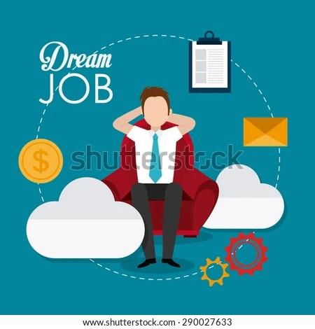 dream job stock vectors & vector