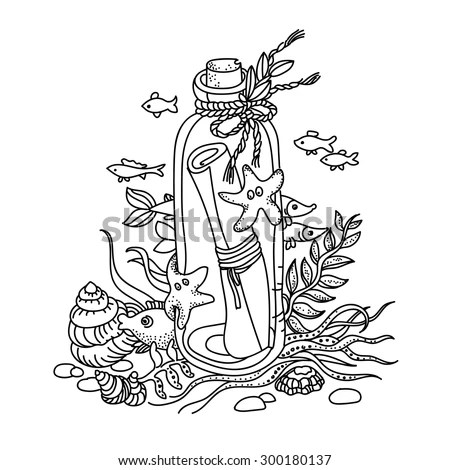 Ship In A Bottle Coloring Pages