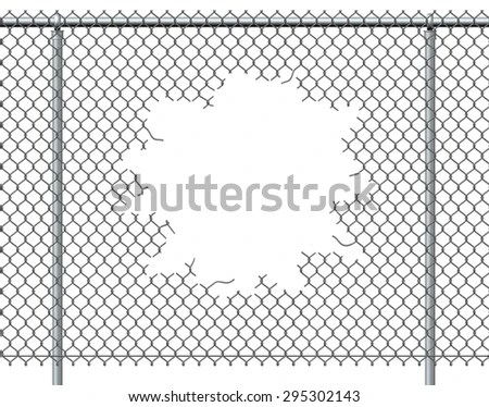 How to cut chain link fence