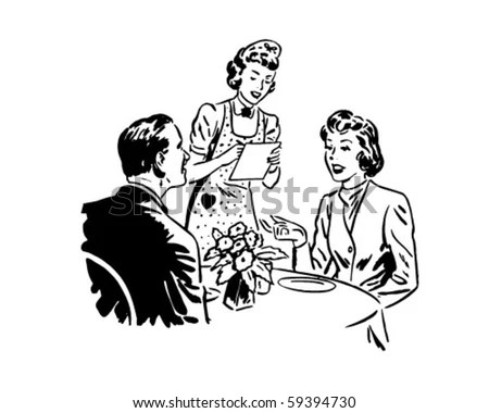 50s Woman Food Clip Art Stock Photos, Images, & Pictures