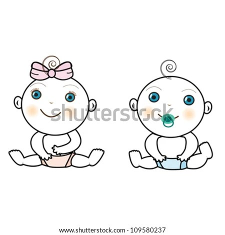 Baby girl twins Stock Photos, Images, & Pictures