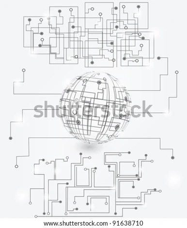 Electric Circuit Diagram Stock Vectors & Vector Clip Art