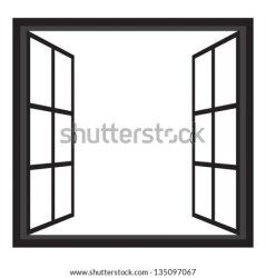 window windows open vector wide silhouette clipart frame frames arch shutterstock round line wall illustrations vectors