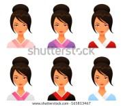 hair bun stock vectors & vector