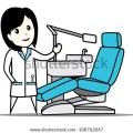 Dentist chair cartoon dentist chair