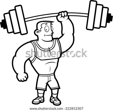 Weight Lifting Cartoon Stock Photos, Images, & Pictures