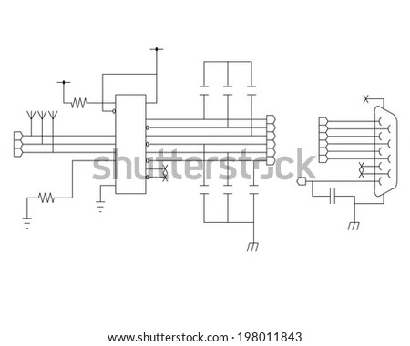 Circuit Diagram Symbols Stock Photos, Images, & Pictures