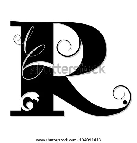 Calligraphy Letter R Designs