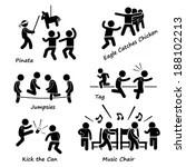 Childhood Children Games Kids Playing Stick Figure