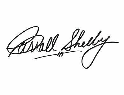 Product Name Decals CARROLL SHELBY SIGNATURE 9.00 SILVER