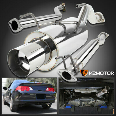 auto parts and vehicles 2002 2006 acura rsx base 2 0l dc5 jdm 4 burnt tip catback system car truck exhaust systems
