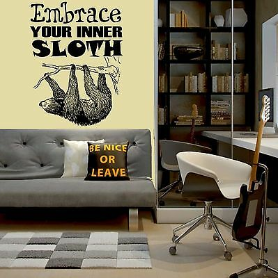 neal sofaworks teddy clear gl sofa table zeppy io personalised embrace your inner sloth vinyl wall art quote neil
