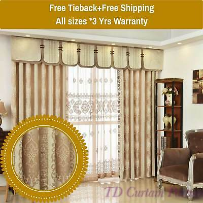 home furniture diy beaded swag valance pelmet gold drapes sheer curtain fabric eyelets pleated hook curtains blinds