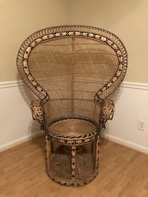 fan back wicker chair rocking baby used peacock zeppy io vintage rattan fanback cobra retro boho beautiful detail