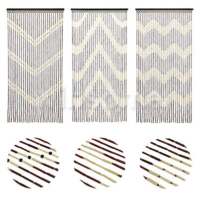 curtains blinds beaded bamboo wooden 6 wave beaded door curtain fly curtain doorway blind si 019 home furniture diy akademisches graz at
