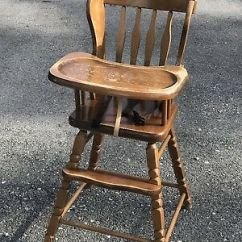 Vintage Wood High Chair Hanging Teenager Zeppy Io Jenny Lind Style Wooden Highchair Medium Stain Hedstrom