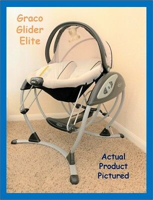 graco swing chair zebra aluminum bistro chairs used baby swings zeppy io glider elite 2 in 1 gliding super clean
