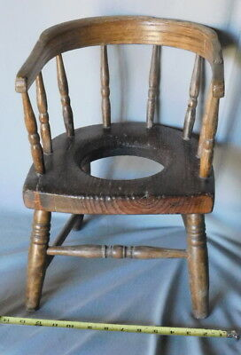 wooden potty chair ergonomic leather office antique wood zeppy io windsor primitive victorian bow back commode baby oak