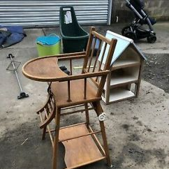 High Chair Converts To Table And Beach Umbrella Vintage Highchair Zeppy Io Wooden A