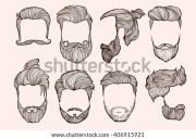 man hair model stock vectors