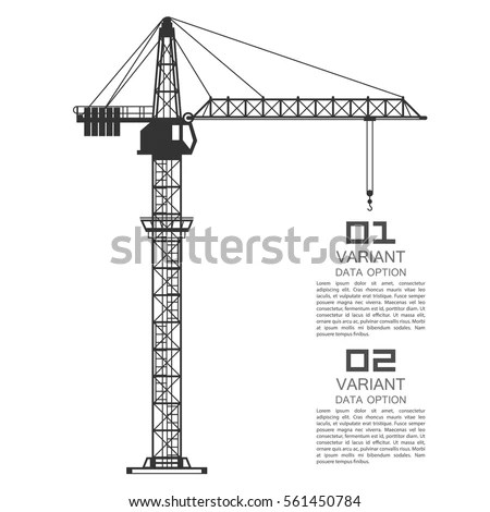 Crane Drawing Business Cover Vector Illustration Stock