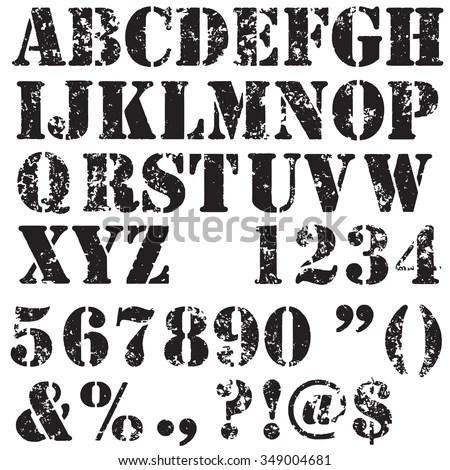 Stencil Stock Images RoyaltyFree Images Vectors