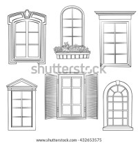 Window Silhouette Stock Images, Royalty
