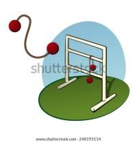 Ladder Golf Yard Game Bola Flying Stock Vector 248193154 ...