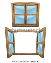 window clipart cartoon open windows closed wooden close vector shutterstock pic clipground