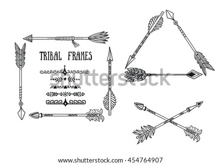 Arrow Set Native American Indian Style Stock Vector