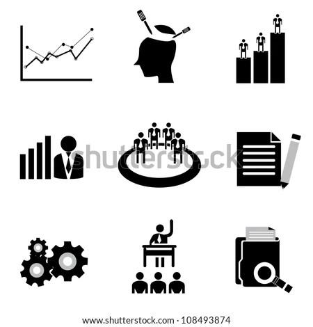 Vector Set Organization Development Human Resource Stock