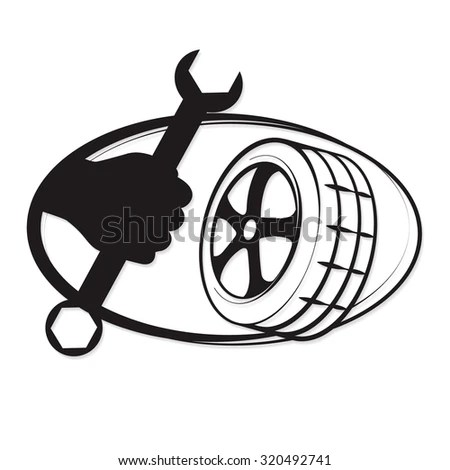 Hands On Wheel Retro Clipart Illustration Stock Vector
