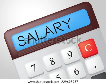 Salary Calculator Meaning Pay Salaries Wage Stockillustratie 229698937 - Shutterstock