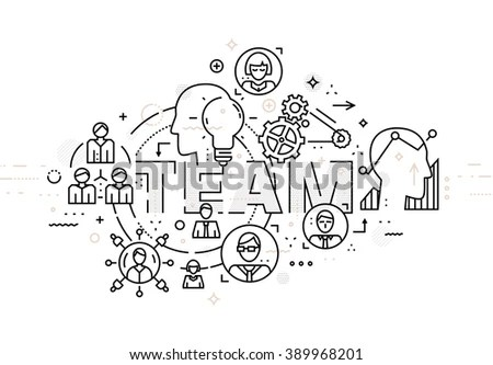 Doodle Style Concept Career Growth Selecting Stock Vector