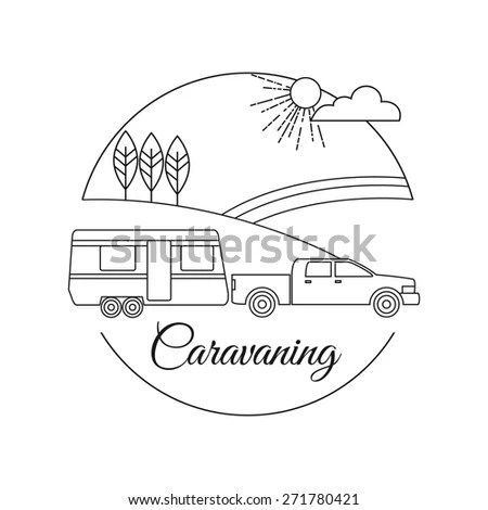 Camping Caravan Illustrations Vector Stock Photos, Images