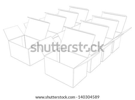 Candy Box Blueprint Template Stock Vector 392509099