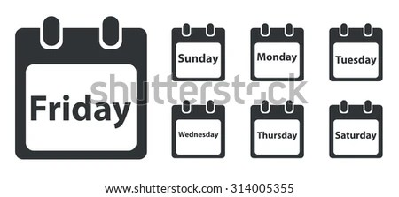 Calendar Sunday Stock Images, Royalty-Free Images