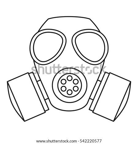 Gas Mask Icon Outline Illustration Gas Stock Vector