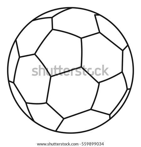 Soccer Ball Icon Outline Illustration Soccer Stock