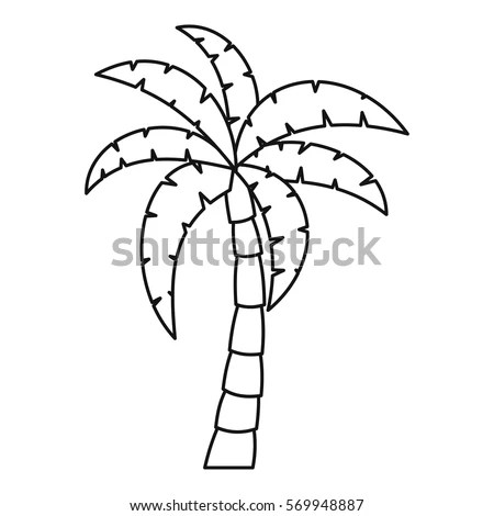 Palm Tree Icon Outline Illustration Palm Stock Vector