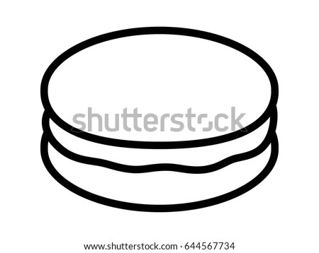 Macaron Food Coloring Coloring Pages