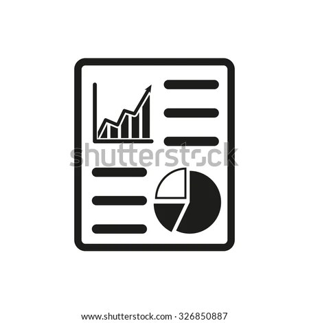 Business Report Icon Audit Analysis Document Stock Vector