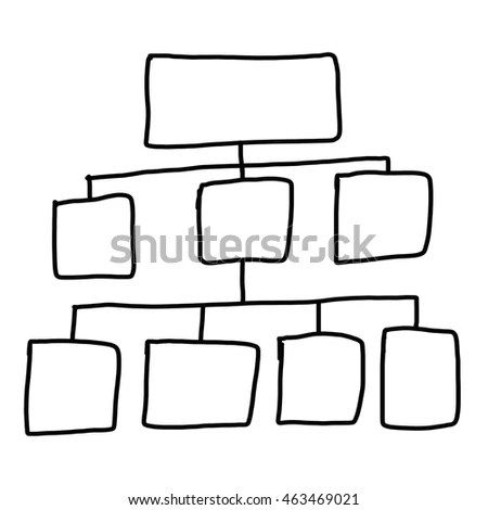 Flowchart Vector Isolated On White Background Stock Vector