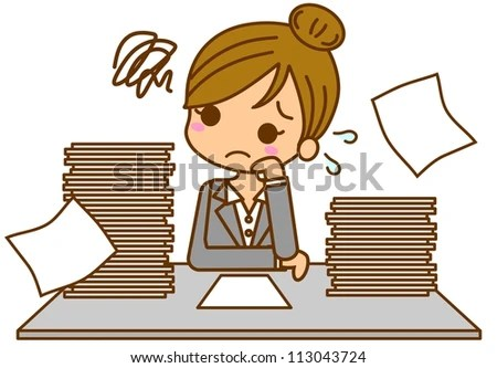 busy business woman stock illustration