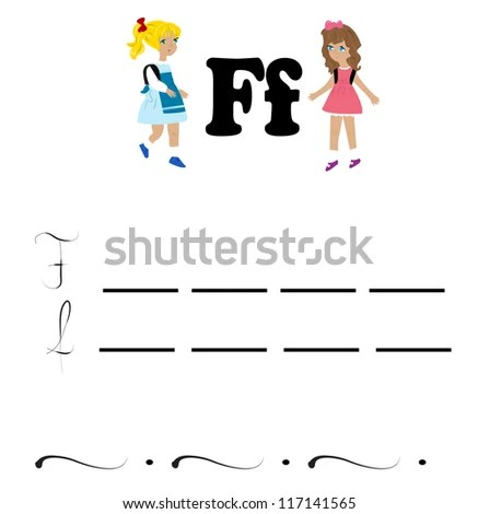 Letter F Script Stock Photos, Images, & Pictures